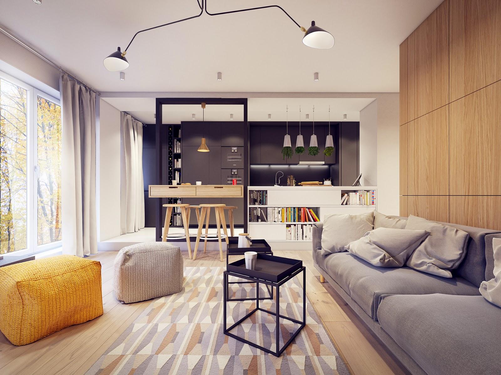 интерьер квартиры в стиле 60-х